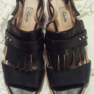 Clark's Black Black-Heel Sandal
